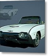 1963 Ford Thunderbird Convertible Metal Print by Tim McCullough