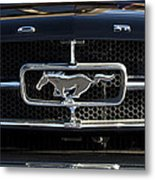 1965 Shelby Prototype Ford Mustang Hood Ornament Metal Print by Jill Reger