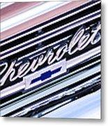 1966 Chevrolet Biscayne Front Grille Metal Print by Jill Reger