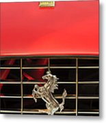 1966 Ferrari 330 Gtc Coupe Hood Ornament Metal Print by Jill Reger