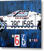 1966 Ford Gt40 License Plate Art By Design Turnpike Metal Print by Design Turnpike