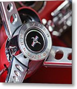 1969 Ford Mustang Mach 1 Steering Wheel Metal Print by Jill Reger