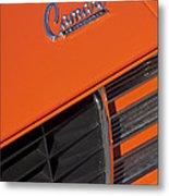 1969 Rs-ss Chevrolet Camaro Grille Emblem Metal Print by Jill Reger