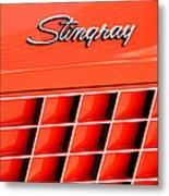 1972 Chevrolet Corvette Stingray Emblem 3 Metal Print by Jill Reger