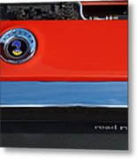 1972 Plymouth Road Runner Hood Emblem Metal Print by Jill Reger