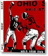 1979 Ohio State Vs Wisconsin Football Ticket Metal Print by David Patterson