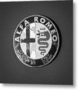 1986 Alfa Romeo Spider Quad Emblem Metal Print by Jill Reger