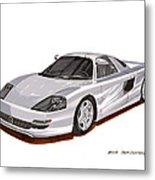 1991 Mercedes Benz C 112 Concept Metal Print by Jack Pumphrey