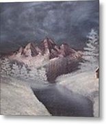 1st Painting 2-27-1991 Metal Print by Rhonda Lee
