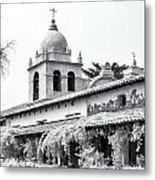 Facade Of The Chapel Mission San Carlos Borromeo De Carmelo Metal Print by Ken Wolter