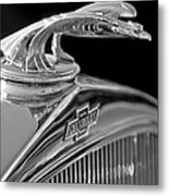 1931 Chevrolet Hood Ornament Metal Print by Jill Reger