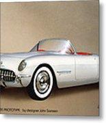 1953 Corvette Classic Vintage Sports Car Automotive Art Metal Print by John Samsen