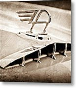 1957 Austin Cambrian 4 Door Saloon Hood Ornament Metal Print by Jill Reger