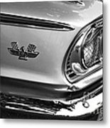 1963 Ford Galaxie Front End And Badge Metal Print by Kaye Menner