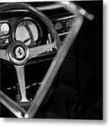 1967 Ferrari 275 Gtb 4 Steering Wheel Emblem Metal Print by Jill Reger