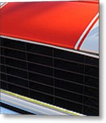 96 Inch Panoramic -1969 Chevrolet Camaro Rs-ss Indy Pace Car Replica Grille - Hood Emblems Metal Print by Jill Reger