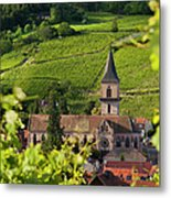 Alsace Church Metal Print by Brian Jannsen
