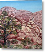 Among The Red Rocks Metal Print by Roseann Gilmore
