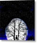 Black Cat On Tree Metal Print by Nina Ficur Feenan