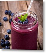 Blueberry Smoothie Metal Print by Jane Rix