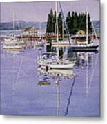 Boothbay Harbor Metal Print by Karol Wyckoff