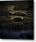 2 Bridges At Dusk Metal Print by Dale Stillman