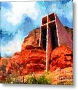 Chapel Of The Holy Cross Sedona Arizona Red Rocks Metal Print by Amy Cicconi