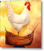 Chicken Ship... Metal Print by Will Bullas