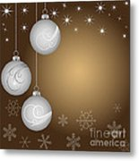 Christmas Background Metal Print by Michal Boubin