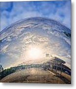 Distorted Reflection Metal Print by Sennie Pierson