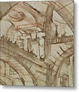 Drawing Of An Imaginary Prison Metal Print by Giovanni Battista Piranesi