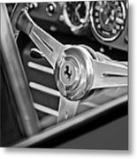 Ferrari Steering Wheel Metal Print by Jill Reger