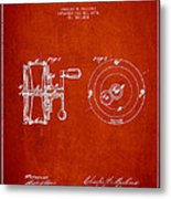 Fishing Reel Patent From 1874 Metal Print by Aged Pixel