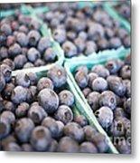 Fresh Blueberries Metal Print by Edward Fielding