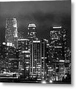 Gotham City - Los Angeles Skyline Downtown At Night Metal Print by Jon Holiday