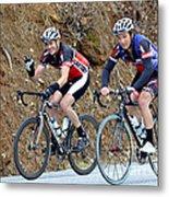 Gran Fondo Bike Ride Metal Print by Susan Leggett