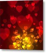 Hearts Background Metal Print by Carlos Caetano