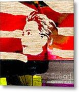 Hillary Clinton Metal Print by Marvin Blaine