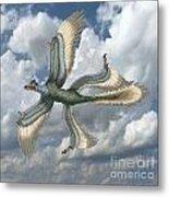 Microraptor Metal Print by Spencer Sutton