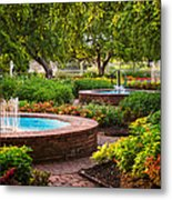 Morning Garden Metal Print by Jeff Sinon
