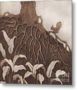 Nut Maze Metal Print by Suzette Broad