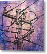 Power Lines Metal Print by William Cauthern