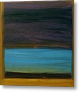Purple And Turquoise In Yellow Metal Print by Kongtrul Jigme Namgyel