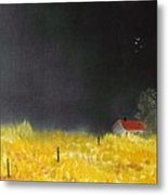 Red Barn Metal Print by Andy Davis