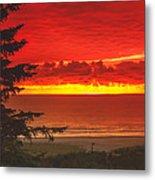 Red Pacific Metal Print by Robert Bales