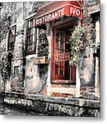 Ristorante On The Canal Metal Print by Greg Sharpe