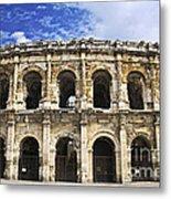 Roman Arena In Nimes France Metal Print by Elena Elisseeva