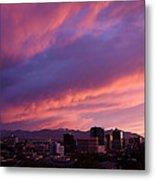 Salt Lake City Sunset Metal Print by Rona Black