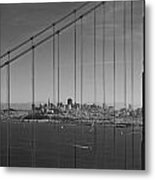 San Francisco Through Golden Gate Bridge Metal Print by Twenty Two North Photography