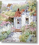 Summer Time Cottage Metal Print by Joyce Hicks